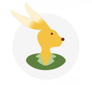 Head of a female rabbit illustration